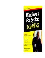 Tài liệu Windows 7 for Seniors for Dummles P1 docx