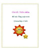 Tài liệu Chủ đề: Thiên nhiên - Đề tài: Ông mặt trời - Nhóm lớp: Chồi ppt