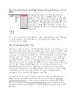 Tài liệu Cấu hình dễ dàng các thiết lập Password trong Windows Server 2008 docx