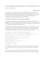 Tài liệu Quản lý mạng Windows bằng Script - Phần 10: Các thủ thuật của kịch bản điều khiển xa doc