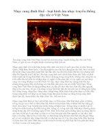 Tài liệu Nhạc cung đình Huế - loại hình âm nhạc truyền thống đặc sắc ở Việt Nam docx