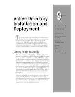 Tài liệu Active Directory Installation and Deployment ppt