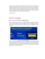 Tài liệu Chinh phục Yahoo Blog - Topic 1: Tạo blog. docx