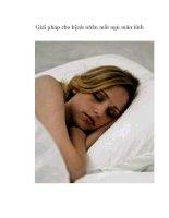 Tài liệu Giải pháp cho bệnh nhân mất ngủ mãn tính pptx