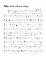 Tài liệu Bài hát một thời phóng đãng - Vũ Thành An (lời bài hát có nốt) doc