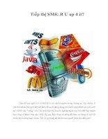 Tài liệu Tiếp thị SMS: R U up 4 it? pdf