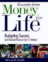 Tài liệu Money for life pptx