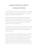 Tài liệu LUYỆN ĐỌC TIẾNG ANH QUA TÁC PHẨM VĂN HỌC-SHORT STORY BY O'HENRY- An Afternoon Miracle docx