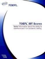 Tài liệu TOEFL iBT Scores: Better information about the ability to communicate... pptx