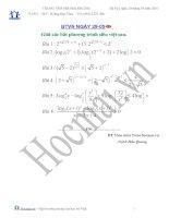 Tài liệu Các bài toán giải các bất PT siêu việt (Bài tập và hướng dẫn giải) pdf