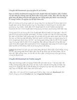 Tài liệu Chuyển đổi Bookmark qua lại giữa IE và Firefox docx