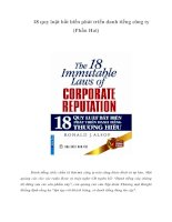 Tài liệu 18 quy luật bất biến phát triển danh tiếng công ty (Phần Hai) doc