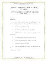 Tài liệu Kế họach truyền thông giáo dục sức khỏe của nghành mầm non - Phần 11 docx