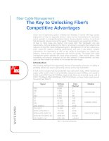 Tài liệu White Paper - Fiber Cable Management - The key to unlocking FO Competitive ppt