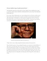Tài liệu Tỉ phú thông thái Warren Buffett chọn cổ phiếu như thế nào pdf