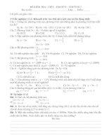 Tài liệu ĐỀ 1 TIẾT - ĐẠI 9 CHƯƠNG 3 - KTKN