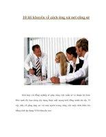 Tài liệu 10 lời khuyên về cách ứng xử nơi công sở docx