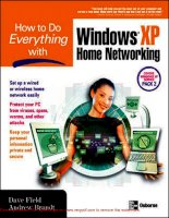 Tài liệu How To Do Everything With Windows XP Home Networking- P1 doc