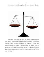 Tài liệu Đâu là sự cân bằng giữa tiền bạc và cuộc sống? pptx