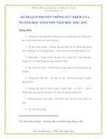 Tài liệu Kế họach truyền thông giáo dục sức khỏe của nghành mầm non - Phần 10 pdf