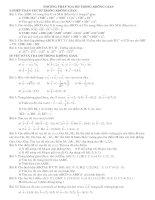 Tài liệu Bài tập Phương pháp tọa độ trong không gian doc