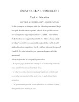 Tài liệu ESSAY OUTLINE ( FOR IELTS ) TOPIC 4-3 docx