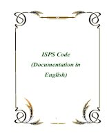 Tài liệu ISPS Code (Documentation in English) ppt