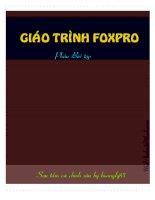 Tài liệu Giáo trình FoxPro ppt