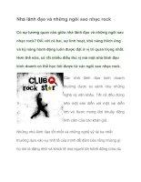 Tài liệu Nhà lãnh đạo và những ngôi sao nhạc rock doc