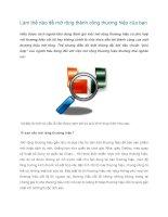 Tài liệu Làm thế nào để mở rộng thành công thương hiệu của bạn ppt
