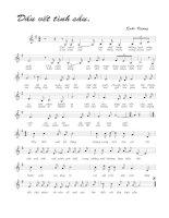Tài liệu Bài hát dấu vết tình sầu - Quốc Vượng (lời bài hát có nốt) ppt