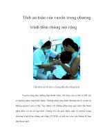 Tài liệu Tính an toàn của vaccin trong chương trình tiêm chủng mở rộng docx