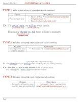 Bài soạn CONDITIONAL CLAUSE_FULL_10+11+12