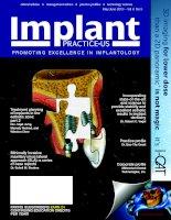 Tạp chí implant IPUS tháng 5& 6/2013 Vol 6 No3