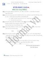 Tài liệu BTVN ngày 12.03: hình cầu trong hình học không gian (Có hướng dẫn giải) ppt