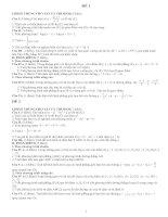 Bài giảng 72 đề ôn thi tốt nghiệp và đại học
