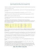 Tài liệu Quy tắc phát âm của người Mỹ doc