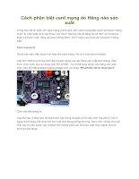 Tài liệu Cách phân biệt card mạng do Hãng nào sản xuất pptx