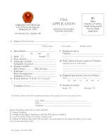 Tài liệu Vietnam VISA Application Form (doc) ppt
