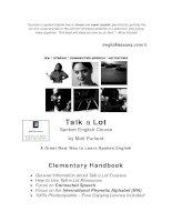 Tài liệu Spoken english elementary handbook part 1 ppt