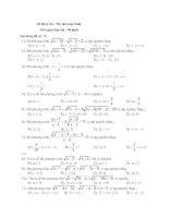 Tài liệu Tập đề thi trắc nghiệm bất phương trình số 4 pptx