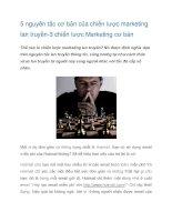 Tài liệu 5 nguyên tắc cơ bản của chiến lược marketing lan truyền docx