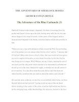 Tài liệu LUYỆN ĐỌC TIẾNG ANH QUA TÁC PHẨM VĂN HỌC-THE ADVENTURES OF SHERLOCK HOMES -ARTHUR CONAN DOYLE 7-3 ppt