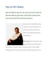 Tài liệu Học từ Bill Gates docx