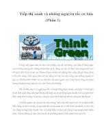 Tài liệu Tiếp thị xanh và những nguyên tắc cơ bản (Phần 1) pdf