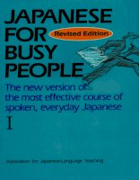 Tài liệu Japanese for Busy People 1 docx