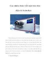 Tài liệu Các chiêu thức viết một bức thư điện tử hoàn hảo docx