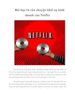 Tài liệu Bài học từ câu chuyện khởi sự kinh doanh của Netflix doc