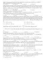 Tài liệu Câu hỏi trắc nghiệm môn Vật lý pptx