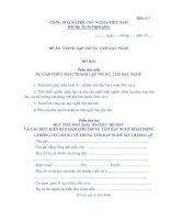 Tài liệu BM.TBXH.15. - Đề án thành lập Trung tâm dạy nghề tư thục pdf